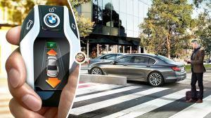 全新宝马7系智能遥控泊车 拯救女司机