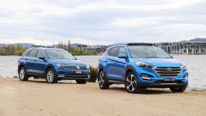 紧凑SUV对弈 大众途观vs现代全新途胜