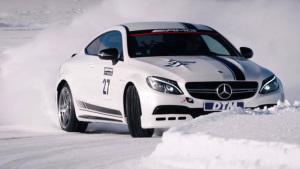 奔驰AMG C63S Coupe雪地狂飙 挑战DTM