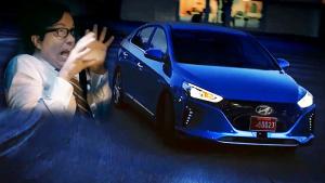 现代IONIQ恐怖广告 自动驾驶转弯正确