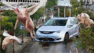 克莱斯勒全新大捷龙混动版 会飞的猪