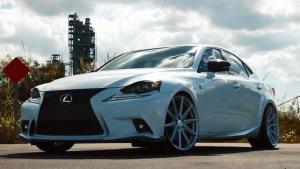 雷克萨斯IS F Sport换装沃森轮毂显品味