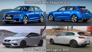 奥迪RS 3两厢版对比西雅特Leon CUPRA