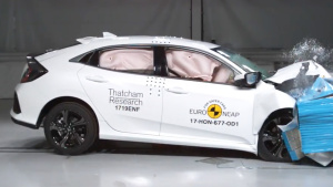 E-NCAP碰撞测试 本田思域掀背版获四星