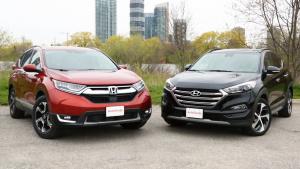 城市SUV大比拼 本田CR-V对比现代途胜