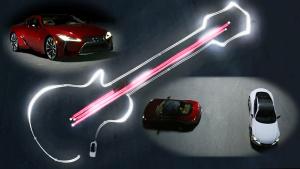挑战极速 雷克萨斯LC 500双车连点画图