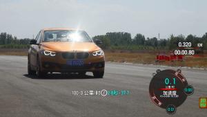 华晨宝马125i 100-0km/h满载刹车测试