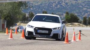奥迪TT RS Coupe 紧急避让麋鹿测试