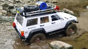 RC全金属Jeep切诺基 高难度涉水攀岩