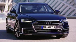 全新一代奥迪A8 采用多幅镀铬饰条装饰