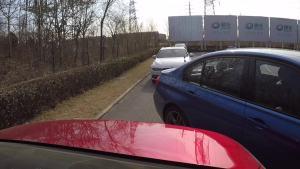 宝马3系自动泊车-侧方