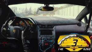 6分59秒73 兰博基尼AventadorLP750-4SV北环单圈流出