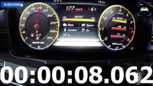 2017奔驰 AMG E63s 0-307公里/小时 最高速度和加速