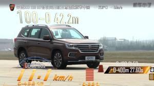 荣威RX8 超级评测空载刹车测试项目