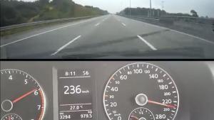 疯狂!大众捷达居然在高速上彪到了236公里/小时!