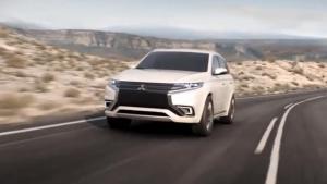 首款插电混合动力SUV!三菱欧蓝德PHEV概念车展示