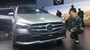 奔驰全新B级车巴黎车展发布,现场实拍