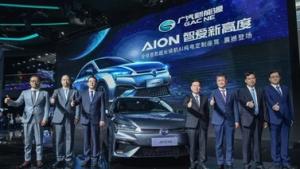 国内首款纯电里程超600km 广汽新能源Aion S亮相