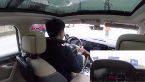 大众途锐主动安全主动刹车测试