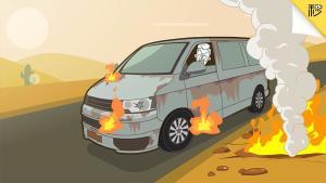 夏季汽车自燃频发 学会这些真能救车 保命