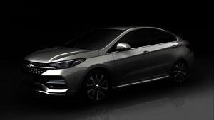 奇瑞全新车型或为艾瑞泽6 预告图公布