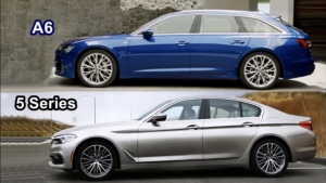 豪华中型车之争,全新奥迪A6对比宝马5系!