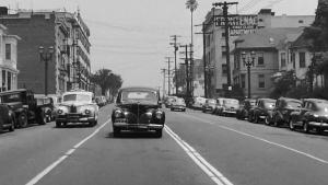 珍贵记忆,行车影像记录了1940年代末期的美国洛杉矶