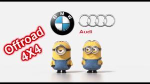 Bmw vs Audi Offroad 4X4,小黄人再评一局