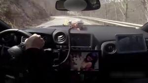 战神GTR日本山路漂移试跑