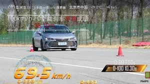 丰田亚洲龙超级评测空载刹车测试