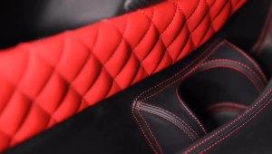 奔驰威霆改装内饰,燃烧的红色内饰