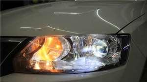 成都斯柯达明锐昕锐升级车灯改装LED大灯日行灯总成