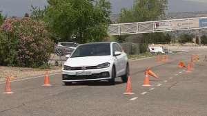 大众Polo GTI麋鹿测试 身材小巧的它过弯是否敏捷