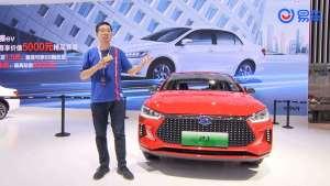 2019广州车展:小倨试车带你看比亚迪纯电三厢车e3