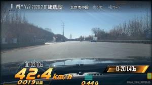 2020款VV7 百公里加速8.7秒