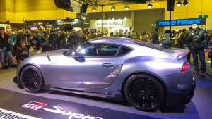车展实拍丰田Supra TRD概念车,全场最闪亮的存在