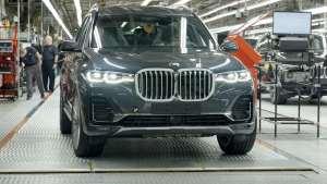 欣赏2020款宝马X7在德国工厂制造汽车的完美生产过程