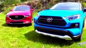 实拍丰田RAV4对比马自达CX5,喜欢的粉丝看过来