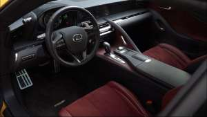 这是一台豪华GT该有的样子,雷克萨斯LC内饰展示