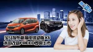 宝马发布新插电混动版X5 本田改款FREED即将上市