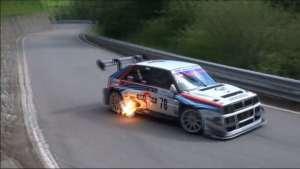 700匹的Lancia Delta,跑山路太凶了