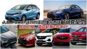 J.D.Power评今年各细分市场最可靠车型,雷克萨斯ES领衔!