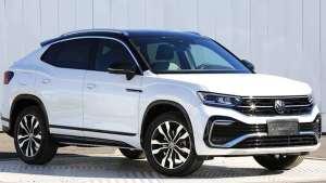 一汽-大众全新轿跑SUV探岳X实车,下半年开卖,尾标下面带字母