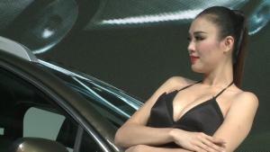 2012广州车展 东风标致车模背后的故事
