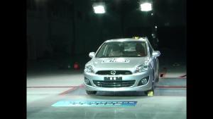 长城C50 C-NCAP安全测试 侧面碰撞