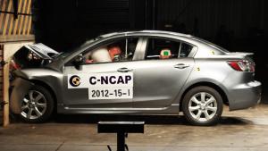 马自达3星骋 C-NCAP碰撞测试荣获五星