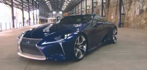 蓝色妖姬 雷克萨斯LF-LC混合动力轿跑