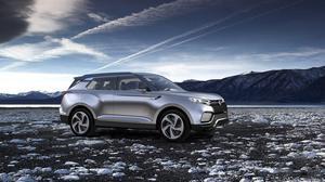 双龙XLV概念车 搭载油电混合动力系统