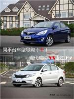 同平台车型导购(十) 现代瑞纳VS起亚K2