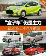 """""""盒子车""""仍是主力  看2015日本汽车销量"""